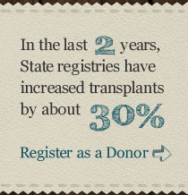 Register as an organ, eye, and tissue donor